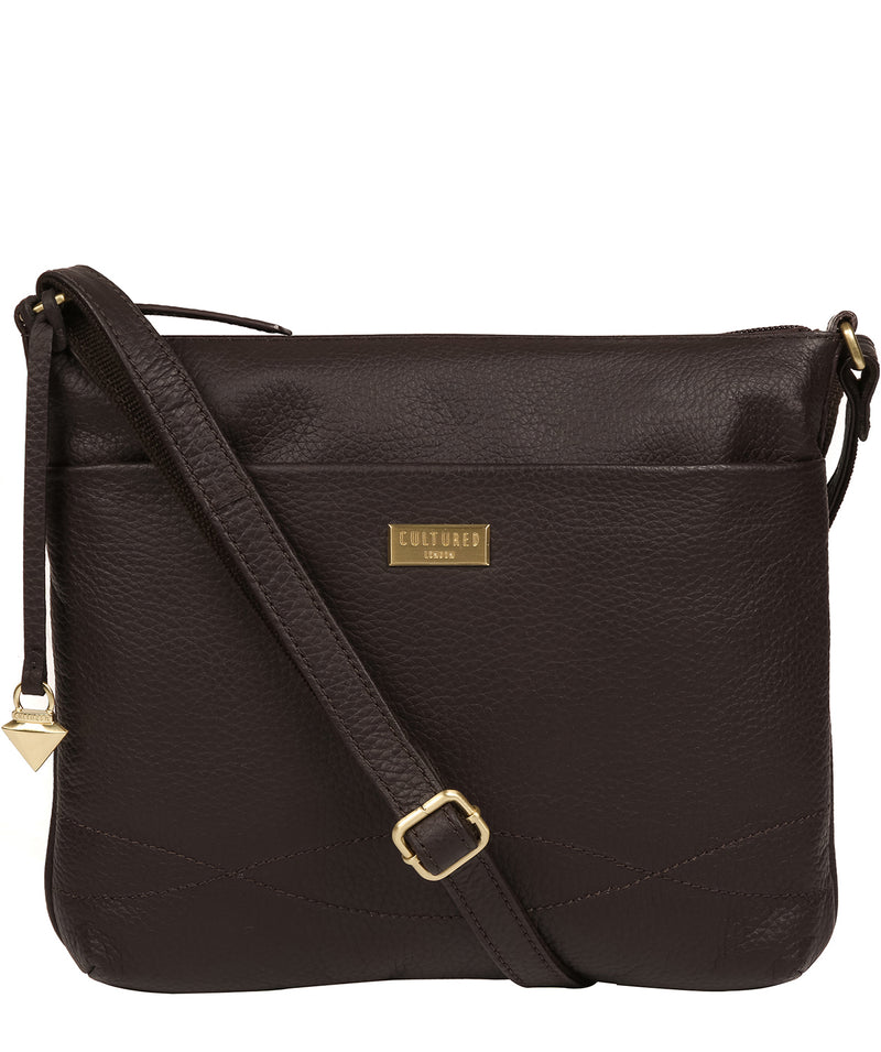 'Gianna' Dark Chocolate Leather Cross Body Bag image 1
