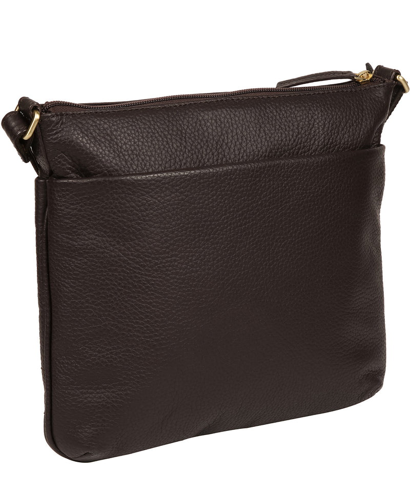 'Gianna' Dark Chocolate Leather Cross Body Bag image 3