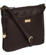 'Gianna' Dark Chocolate Leather Cross Body Bag image 5