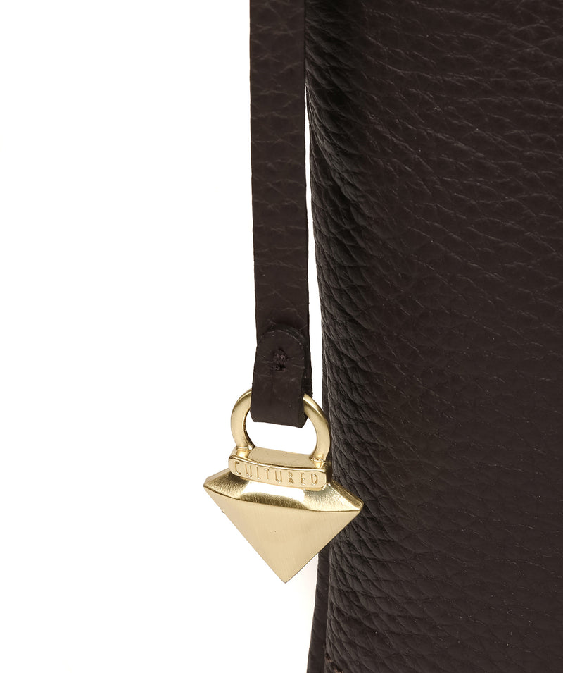 'Gianna' Dark Chocolate Leather Cross Body Bag image 6