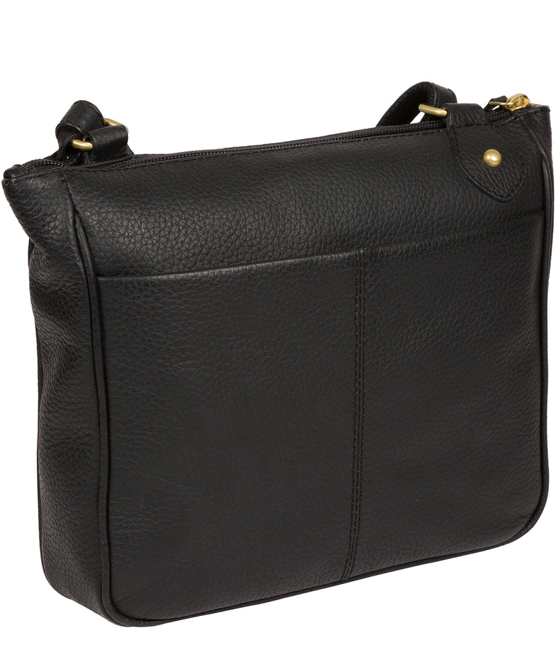 'Aria' Black Leather Cross Body Bag image 3