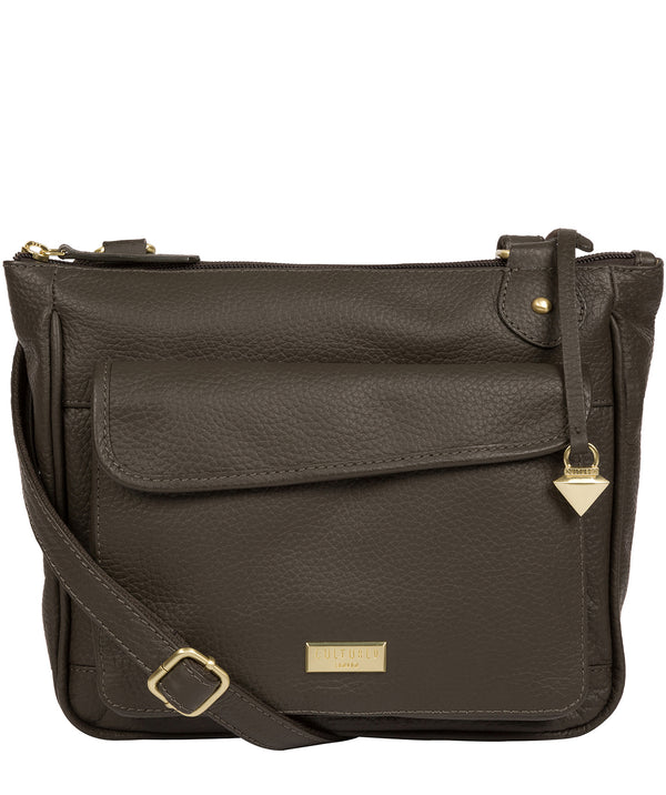 'Aria' Olive Leather Cross Body Bag image 1