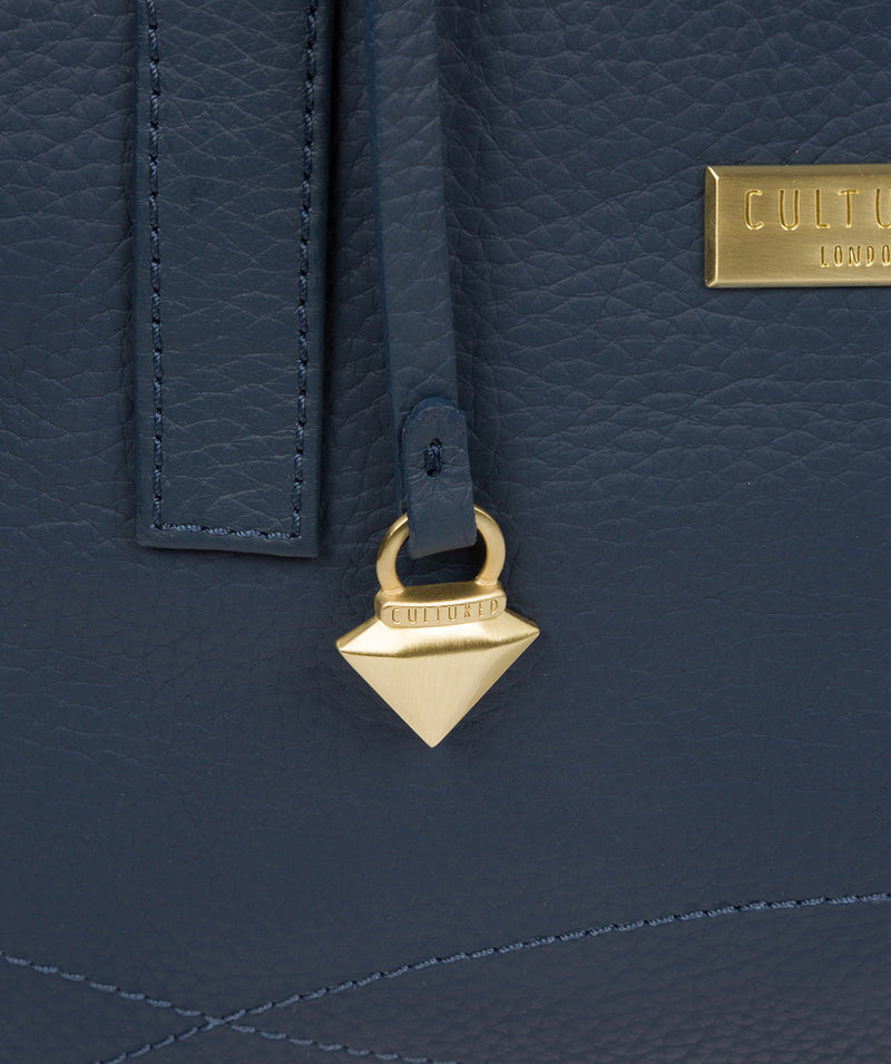 'Liana' Denim Leather Handbag image 7