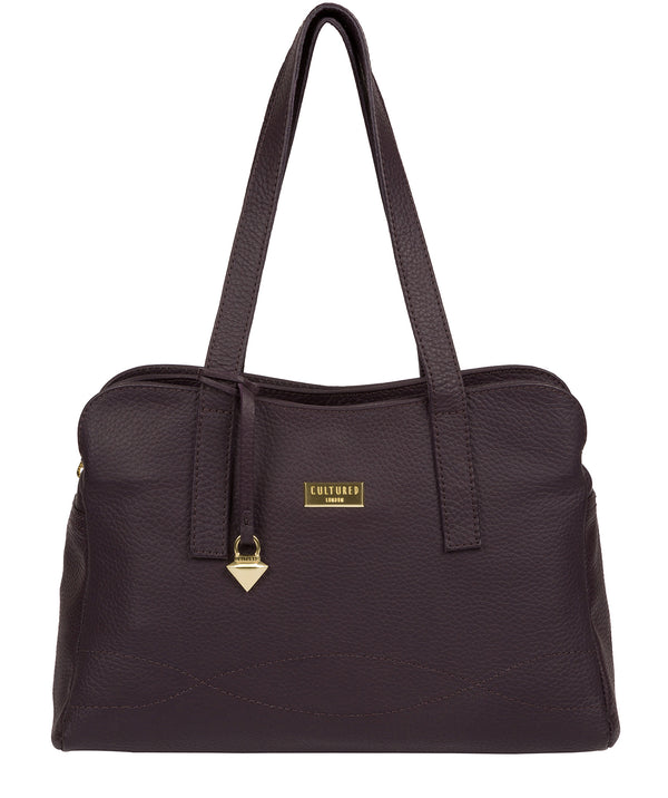 'Liana' Fig Leather Handbag image 1
