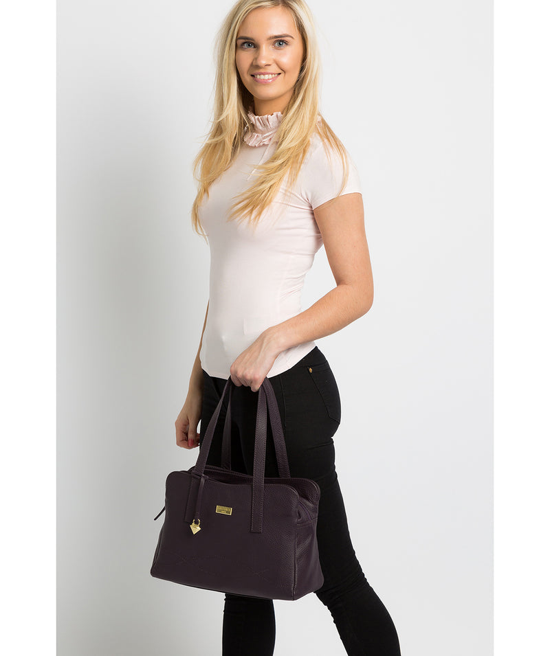 'Liana' Fig Leather Handbag image 2