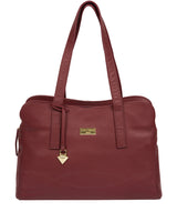 'Liana' Ruby Red Leather Handbag image 1