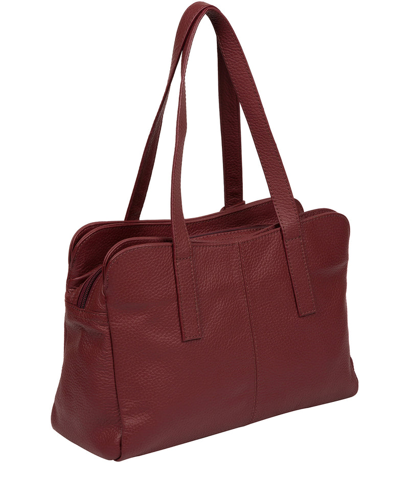 'Liana' Ruby Red Leather Handbag image 3
