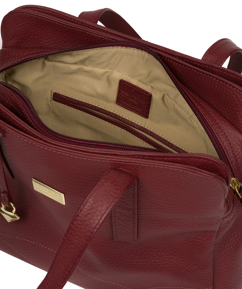 'Liana' Ruby Red Leather Handbag image 4