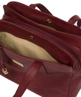 'Liana' Ruby Red Leather Handbag image 5