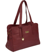 'Liana' Ruby Red Leather Handbag image 6