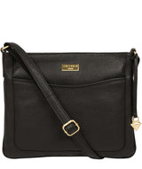 'Mireya' Black Leather Cross Body Bag image 1