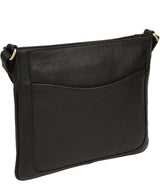 'Mireya' Black Leather Cross Body Bag image 3