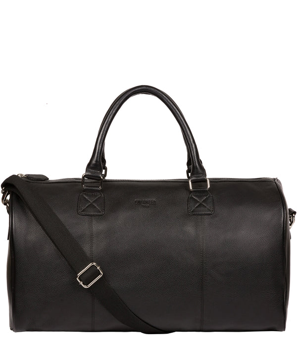 'Club' Black Leather Holdall image 1