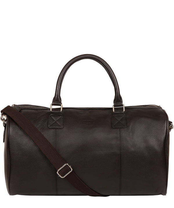 'Club' Dark Brown Leather Holdall image 1