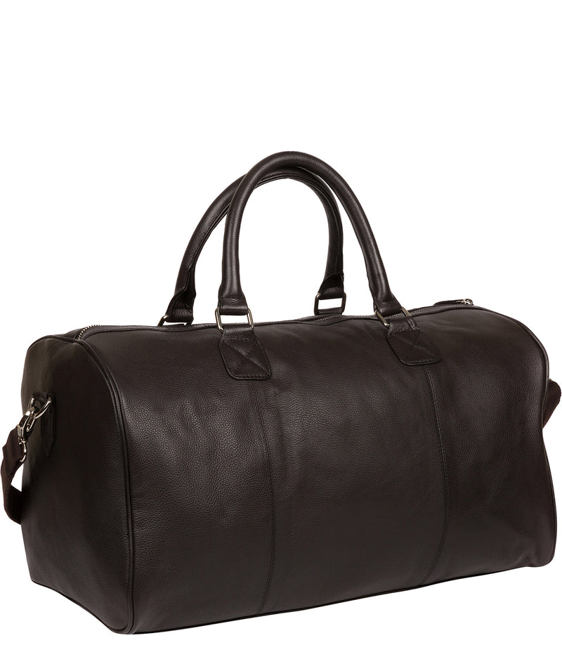 'Club' Dark Brown Leather Holdall image 3