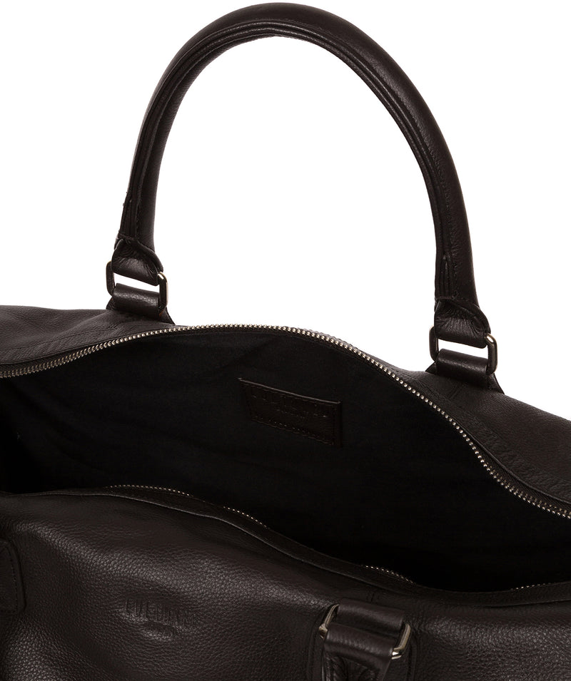 'Club' Dark Brown Leather Holdall image 4