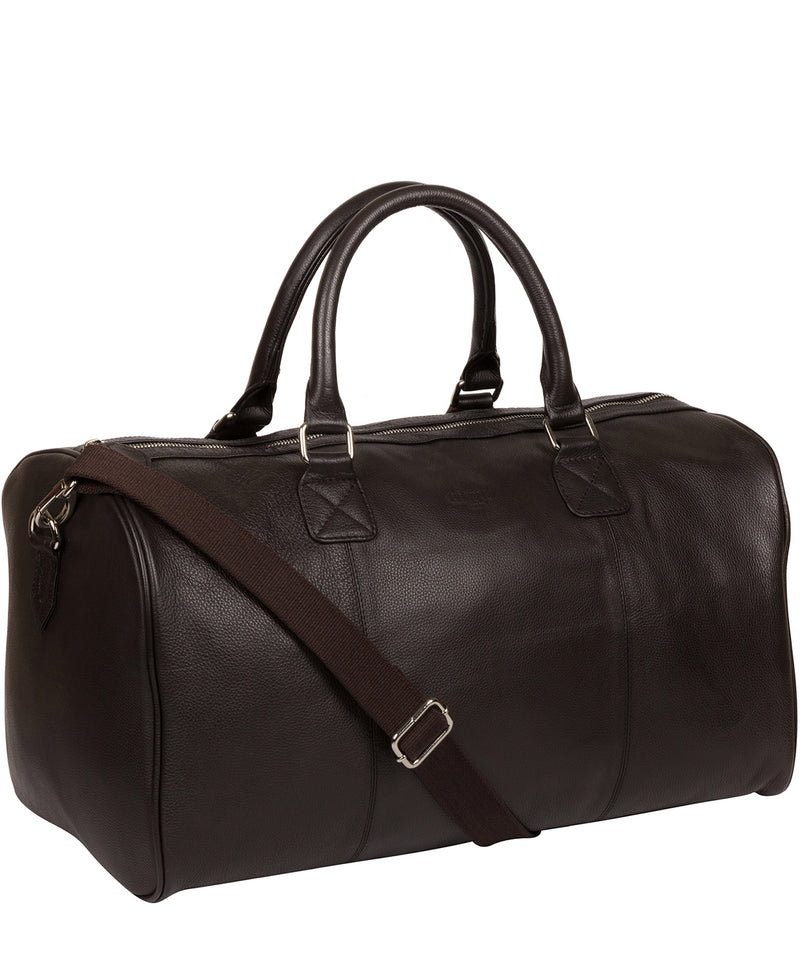 'Club' Dark Brown Leather Holdall image 5