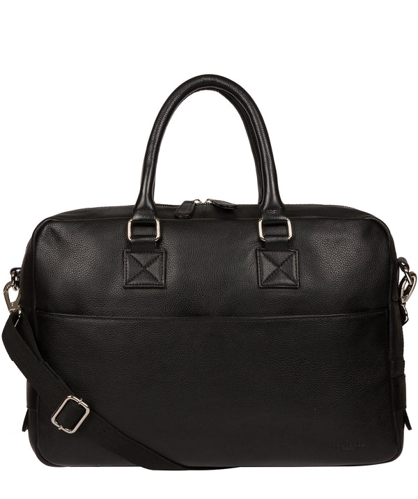 'Reagan' Black Leather Workbag image 1