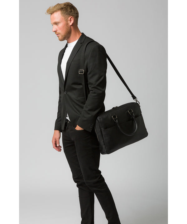 'Reagan' Black Leather Workbag image 2