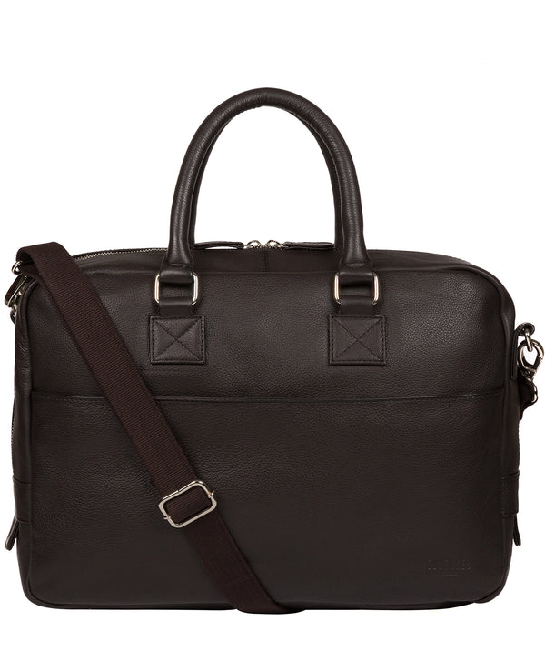 'Reagan' Dark Brown Leather Workbag image 1