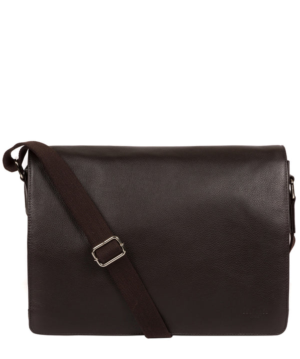 'Daniel' Dark Brown Leather Messenger Bag image 1