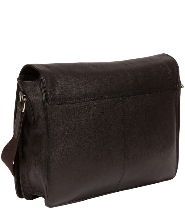 'Daniel' Dark Brown Leather Messenger Bag image 3