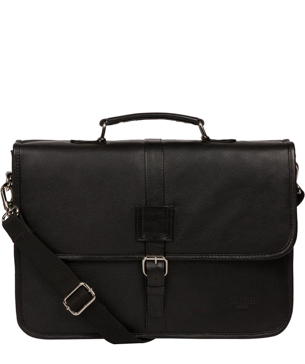 'Riley' Black Leather Workbag image 1