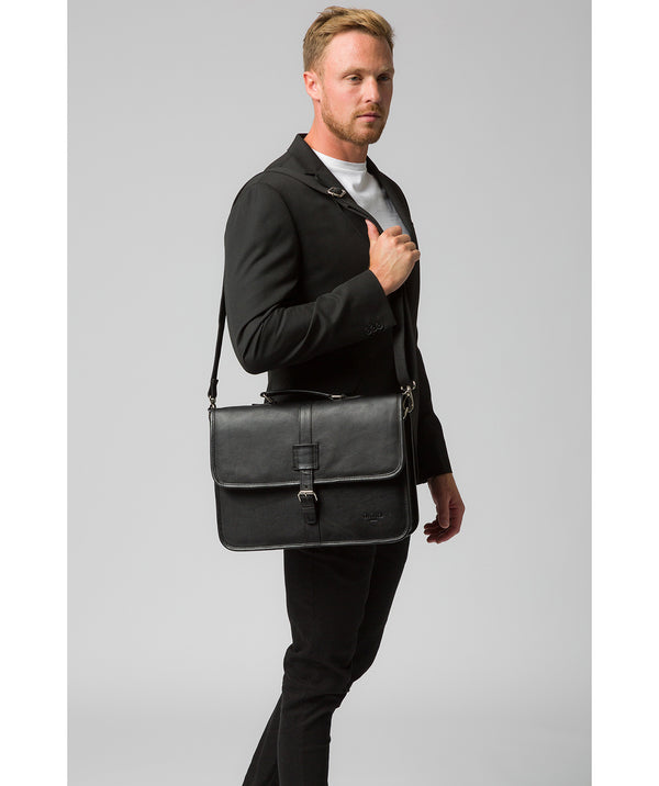 'Riley' Black Leather Workbag image 2