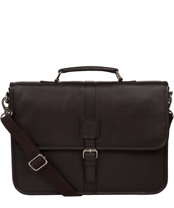 'Riley' Dark Brown Leather Workbag image 1