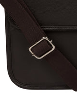 'Riley' Dark Brown Leather Workbag image 6