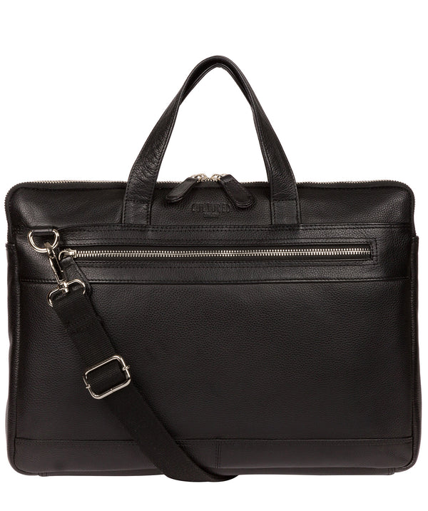 'Titan' Black Leather Workbag image 1