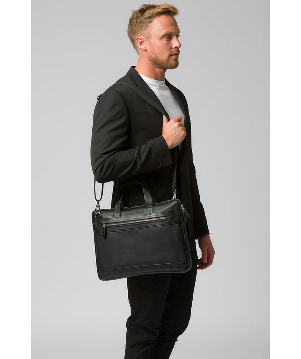 'Titan' Black Leather Workbag image 2