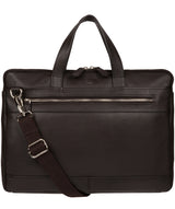 'Titan' Dark Brown Leather Workbag image 1
