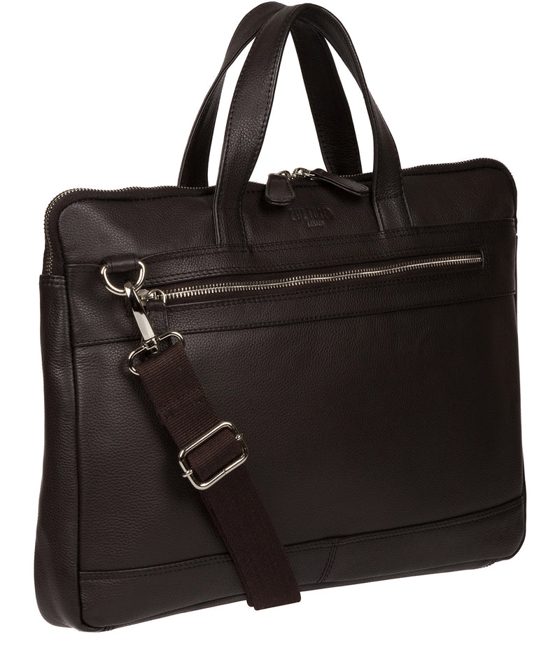 'Titan' Dark Brown Leather Workbag Pure Luxuries London