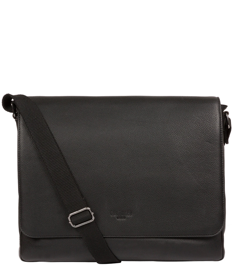 'Rory' Black Leather Messenger Bag image 1