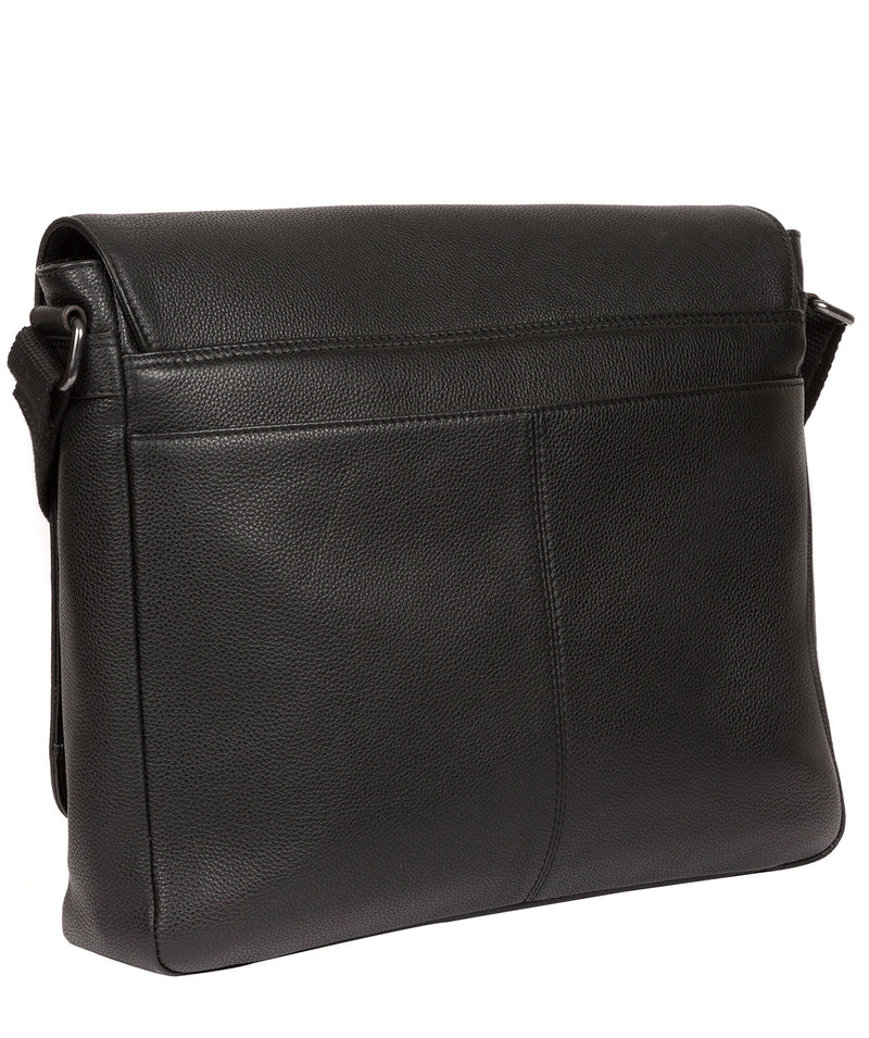 'Rory' Black Leather Messenger Bag image 3