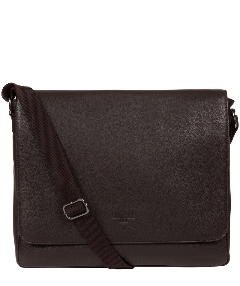 'Rory' Brown Leather Messenger Bag image 1