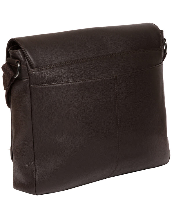 'Rory' Brown Leather Messenger Bag image 3
