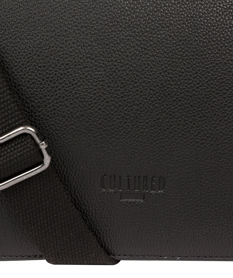 'Marv' Black Leather Messenger Bag image 6