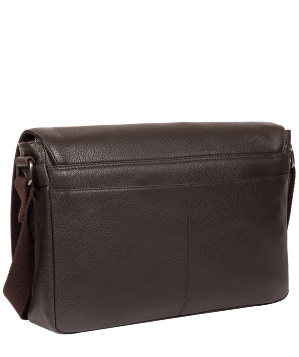 'Marv' Brown Leather Messenger Bag Pure Luxuries London