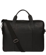 'Alex' Black Leather Workbag image 1