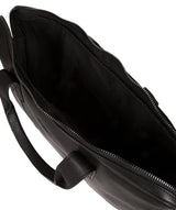 'Alex' Black Leather Workbag image 4