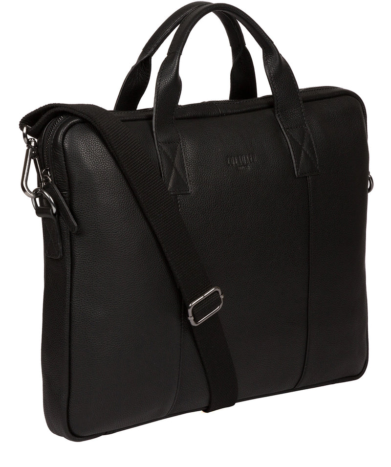 'Alex' Black Leather Workbag image 5