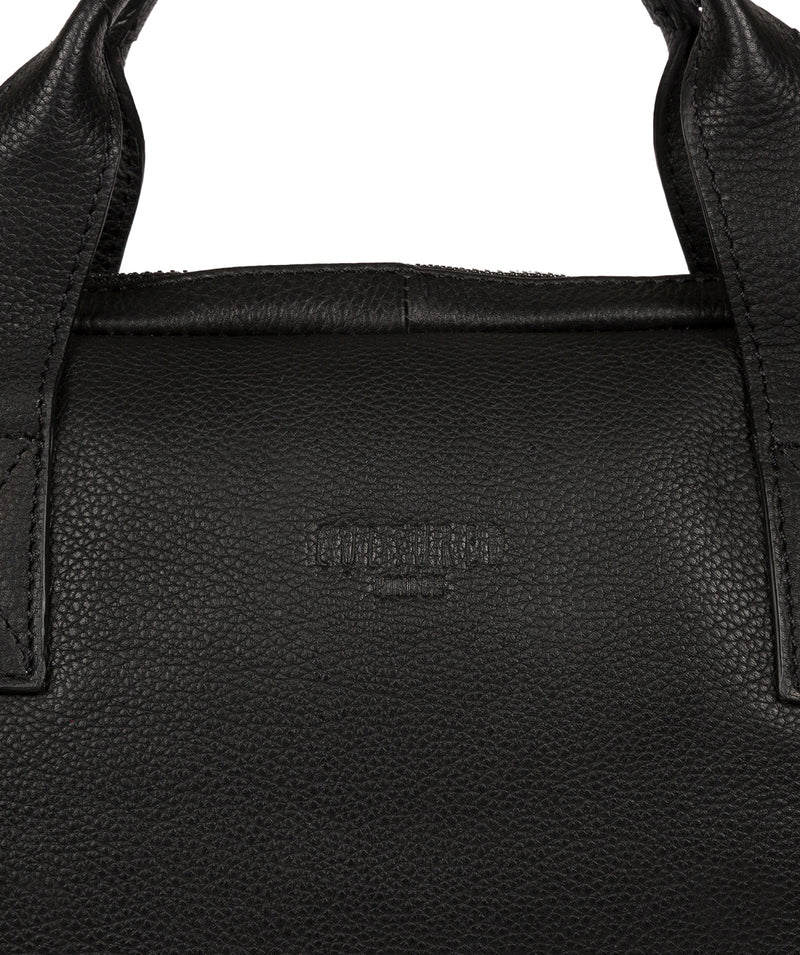 'Alex' Black Leather Workbag image 6