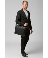 'Alex' Black Leather Workbag image 7