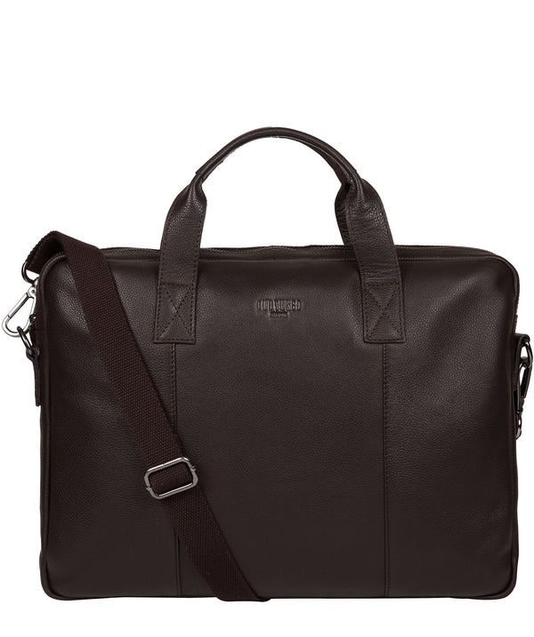 'Alex' Brown Leather Workbag image 1