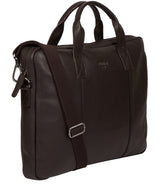 'Alex' Brown Leather Workbag image 5