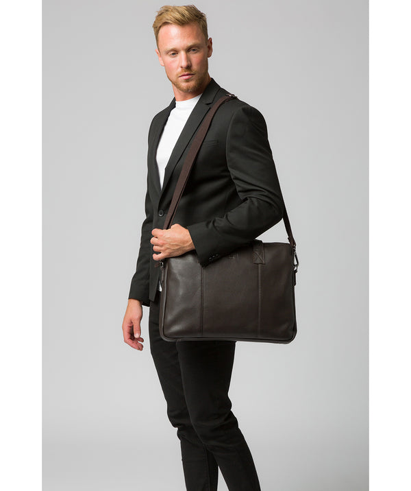 'Alex' Brown Leather Workbag Pure Luxuries London