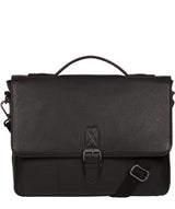 'Clarke' Black Leather Workbag image 1