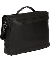 'Clarke' Black Leather Workbag image 3